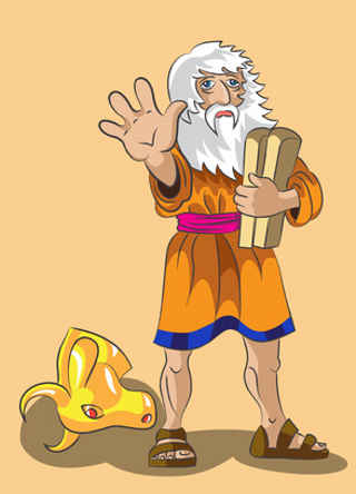 moses and golden calf