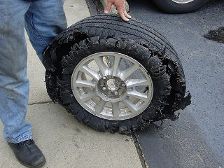 ruined tire